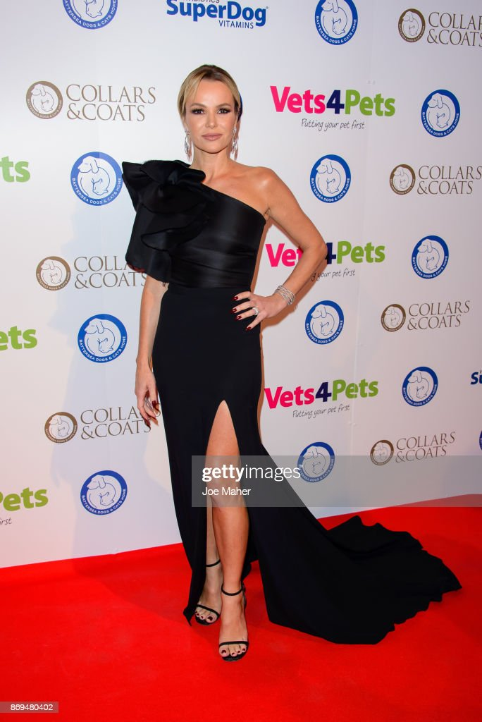 Amanda Holden attends the Collars and Coats Ball 2017 at Battersea Evolution on November 2, 2017 in London, England.