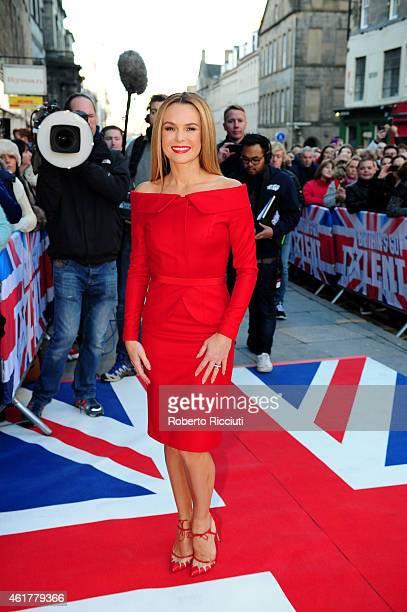 Amanda Holden attends the Edinburgh auditions for 'Britain's Got Talent' at Edinburgh Festival Theatre on January 19 2015 in Edinburgh Scotland