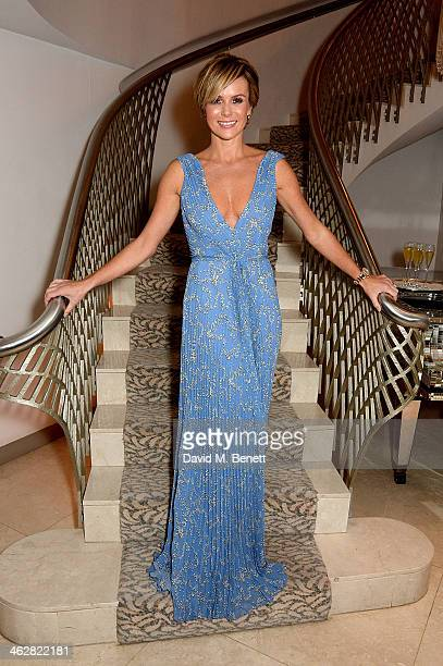 Amanda Holden attends the Fortune Forum Champagne Reception at The Dorchester on January 15 2014 in London England