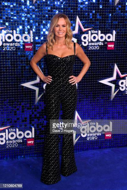 Amanda Holden attends The Global Awards 2020 at Eventim Apollo Hammersmith on March 05 2020 in London England