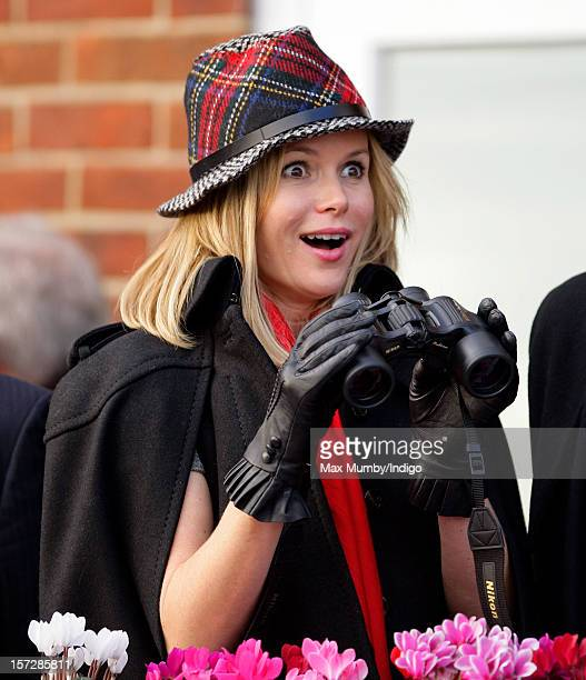 Amanda Holden attends the Hennessy Gold Cup at Newbury Racecourse on December 01 2012 in Newbury England