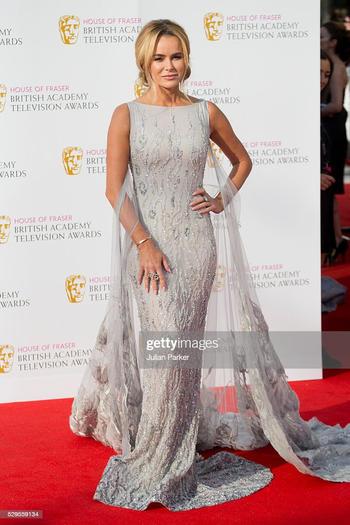 Amanda Holden attends the House Of Fraser British Academy Television Awards 2016 at the Royal Festival Hall on May 8, 2016 in London, England