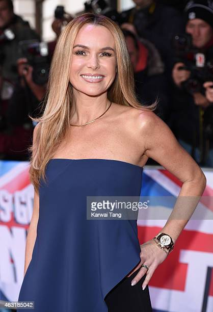 Amanda Holden attends the London auditions for Britain's Got Talent at Dominion Theatre on February 11 2015 in London England