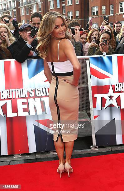 Amanda Holden attends the London Auditions of Britain's Got Talent at Hammersmith Apollo on February 11 2014 in London England