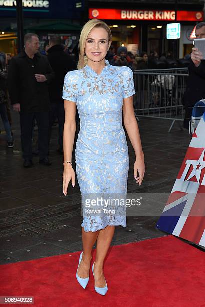 Amanda Holden attends the London auditions of Britain's Got Talent at Dominion Theatre on January 26 2016 in London England