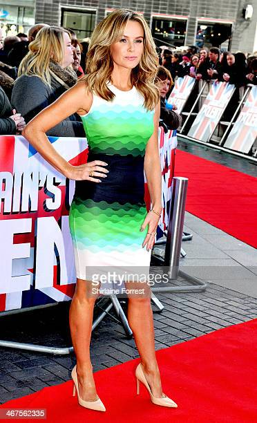 Amanda Holden attends the Manchester auditions for Britain's Got Talent at The Lowry on February 7 2014 in Manchester England
