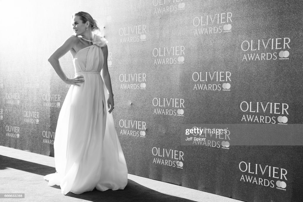 Amanda Holden attends The Olivier Awards 2017 at Royal Albert Hall on April 9, 2017 in London, England.