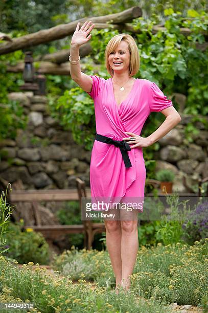 Amanda Holden attends the press and VIP preview day for The Chelsea Flower Show at Royal Hospital Chelsea on May 21, 2012 in London, England.