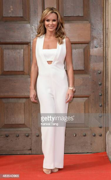 Amanda Holden attends the press launch for 'Britain's Got Talent' at St Luke's Church on April 9 2014 in London England