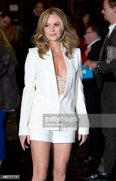 Amanda Holden attends the press night of 'I Can't Sing The X Factor Musical' at London Palladium on March 26 2014 in London England