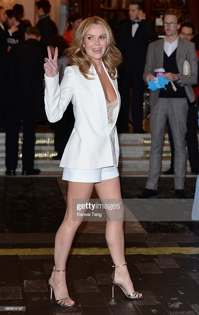 Amanda Holden attends the press night of 'I Can't Sing! The X Factor Musical' at London Palladium on March 26, 2014 in London, England.