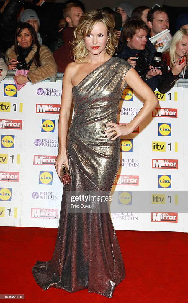 Amanda Holden attends the Pride Of Britain awards at Grosvenor House, on October 29, 2012 in London, England.