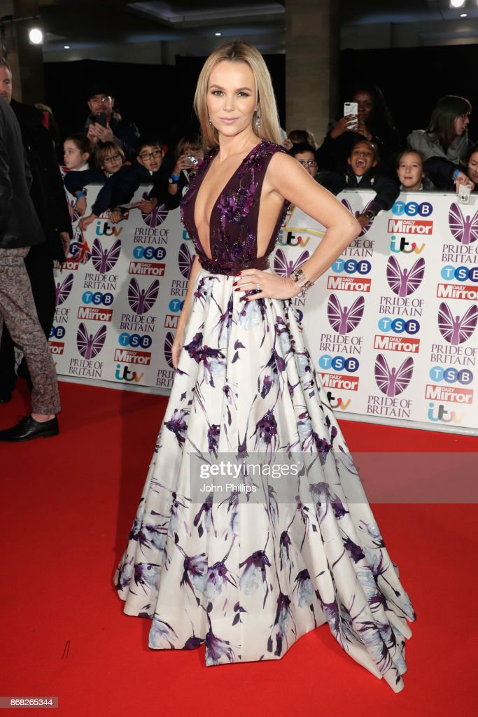 Amanda Holden attends the Pride Of Britain Awards at Grosvenor House, on October 30, 2017 in London, England.