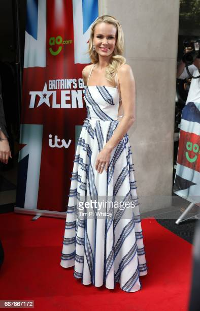 Amanda Holden attends the red carpet for the new series of Britain's Got Talent at The Mayfair Hotel on April 12 2017 in London United Kingdom