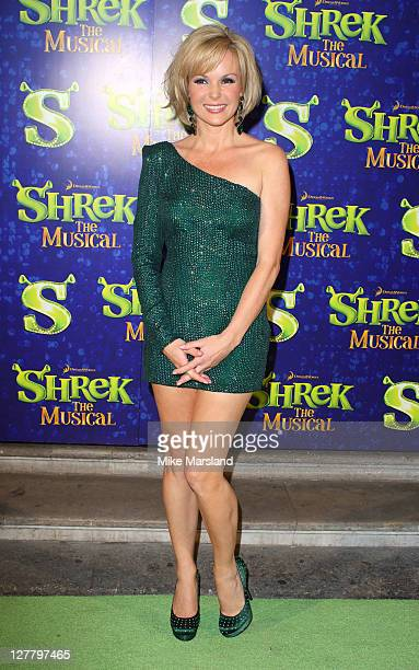 Amanda Holden attends the Shrek press night at Theatre Royal on June 14 2011 in London England