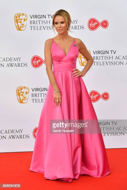 Amanda Holden attends the Virgin TV British Academy Television Awards at The Royal Festival Hall on May 13 2018 in London England