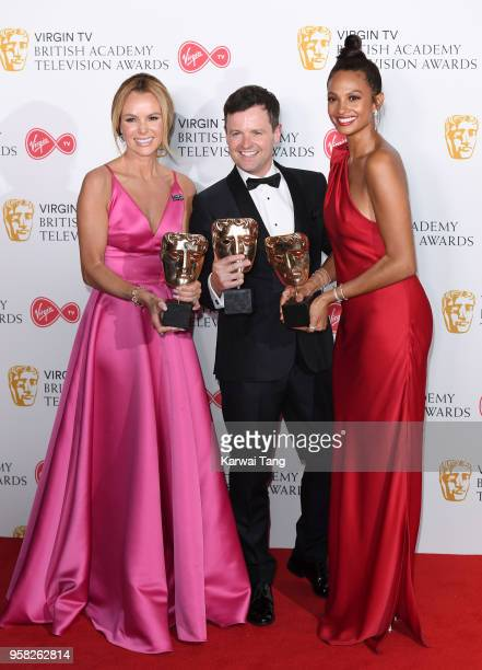 Amanda Holden Declan Donnelly and Alesha Dixon with the award for Entertainment Programme for 'Britain's Got Talent' pose in the press room during...