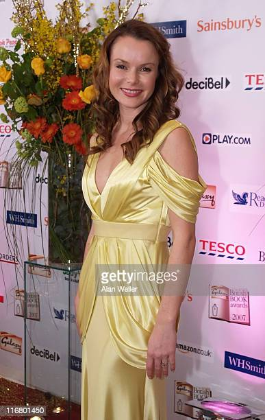 Amanda Holden during 2007 Galaxy British Book Awards Red Carpet at Grosvenor House in London Great Britain