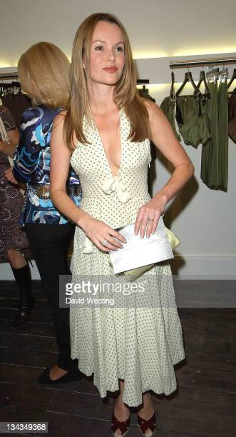 Amanda Holden during Kyri Flagship Store Launch Party in London Great Britain