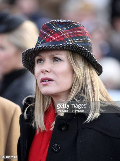 Amanda Holden during the The Sportingbet Winter Festival Hennessy Gold Cup Day at Newbury Racecourse