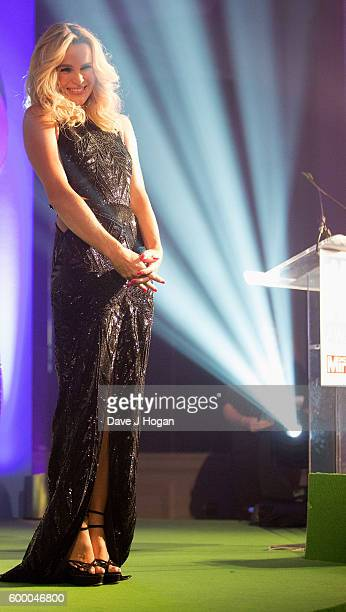 Amanda Holden hosts on stage at the Daily Mirror and RSPCA Animal Hero Awards at Grosvenor House on September 7 2016 in London England