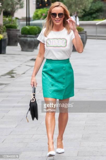 Amanda Holden hseen leaving Global Studios, Heart Radio on September 8, 2020 in London, England.