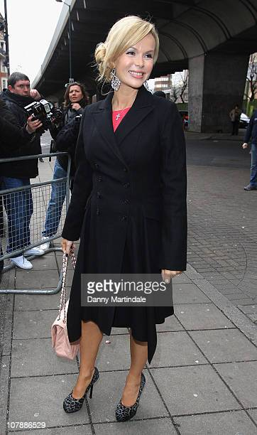 Amanda Holden is seen arriving at The HMV Hammersmith Apollo for Britains Got Talent Auditions Day 2 on January 5 2011 in London England