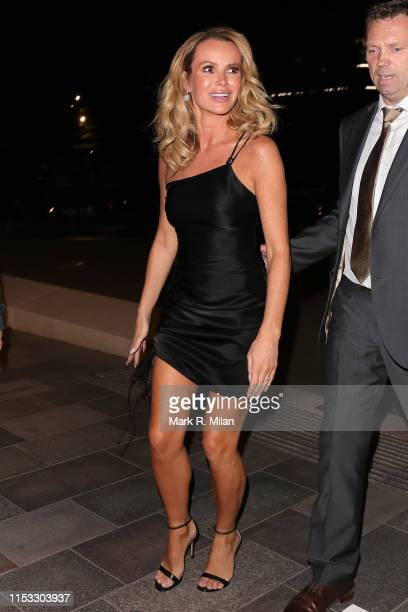 Amanda Holden is seen at White City House on June 2, 2019 in London, England.