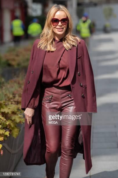 Amanda Holden is seen leaving Global Studios on May 6, 2021 in London, England.