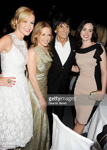 Amanda Holden Kylie Minogue Ronnie Wood and Sally Humphries attend an after party following the Glamour Women of the Year Awards in association with...