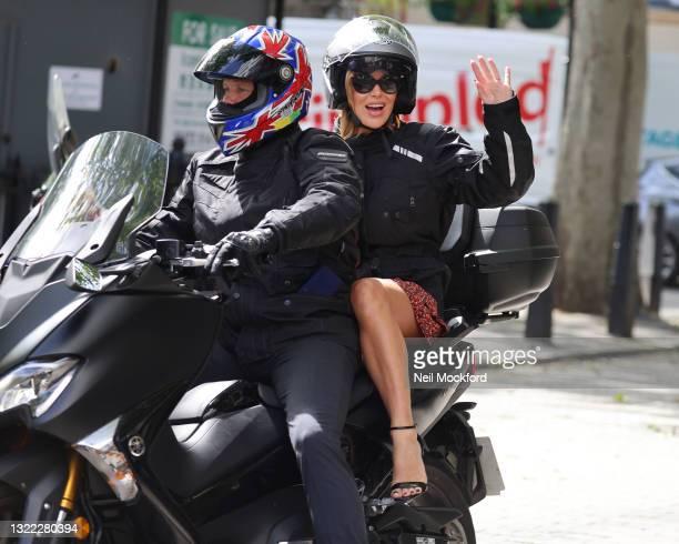 Amanda Holden leaves Heart Breakfast Radio Studios on June 07, 2021 in London, England.