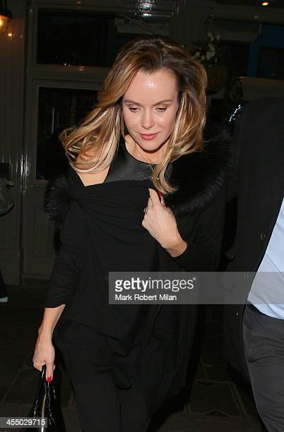 Amanda Holden leaving Balthazar restaurant on December 10 2013 in London England