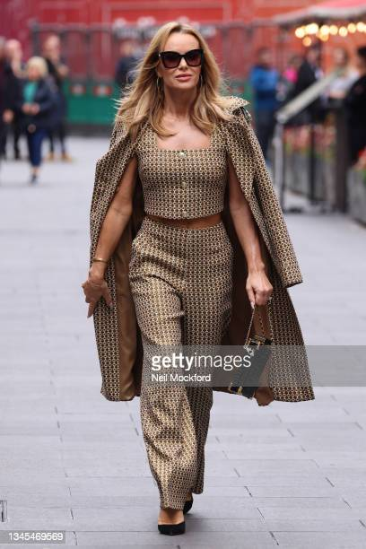 Amanda Holden leaving Heart Breakfast Radio Studios at Global Radio Studios in Leicester Square to support 'Global's Make Some Noise Day' on October...
