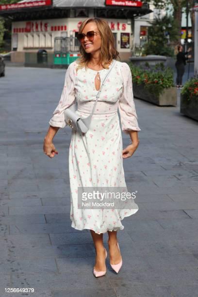 Amanda Holden leaving Heart Breakfast Radio Studios on July 17 2020 in London England