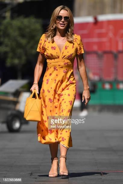 Amanda Holden leaving Heart Breakfast Radio Studios on June 09, 2021 in London, England.
