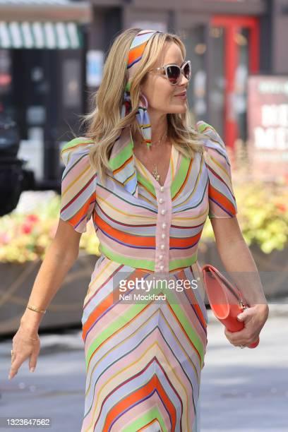 Amanda Holden leaving Heart Breakfast Radio Studios on June 15, 2021 in London, England.