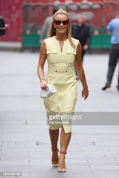 Amanda Holden leaving Heart Breakfast Radio Studios on September 15, 2021 in London, England.