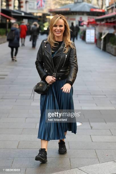 Amanda Holden leaving Heart Breakfast studios on November 18, 2019 in London, England.