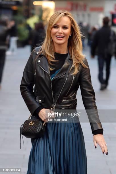 Amanda Holden leaving Heart Breakfast studios on November 18 2019 in London England