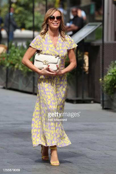 Amanda Holden leaving Heart Radio Studios on July 13 2020 in London England