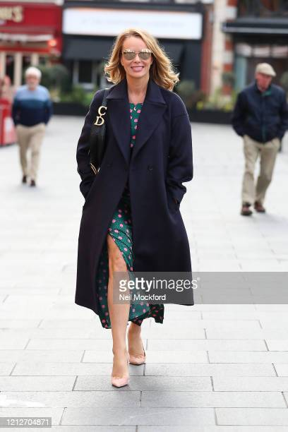 Amanda Holden leaving Heart Radio Studios on March 16 2020 in London England