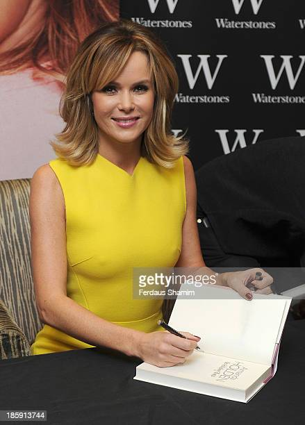 Amanda Holden meets fans and signs copies of her autobiography 'No Holding Back' at Waterstones Bluewater on October 26 2013 in Greenhithe England