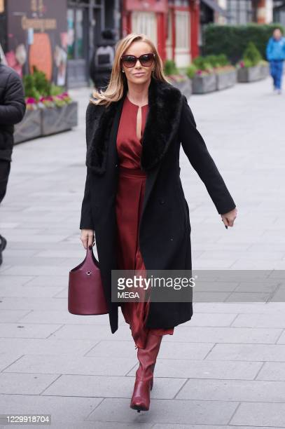 Amanda Holden pictured leaving Global Radio on December 2, 2020 in London, England.
