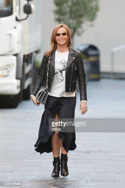 Amanda Holden pictured leaving Global Radio Studios on December 14, 2020 in London, England.