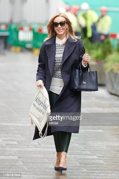Amanda Holden pictured leaving Global Radio Studios on December 18, 2020 in London, England.
