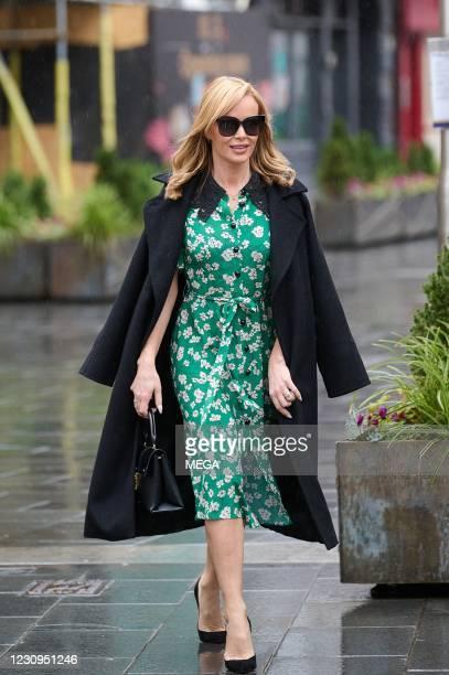 Amanda Holden pictured leaving Global Radio Studios on February 3, 2021 in London, England.