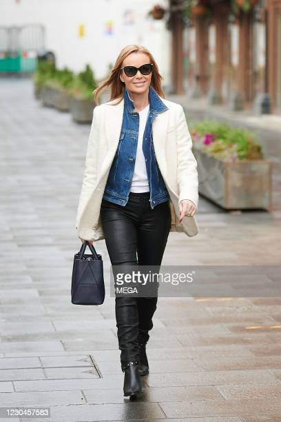 Amanda Holden pictured leaving Global Radio Studios on January 6, 2021 in London, England.