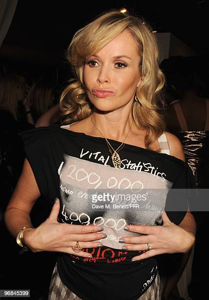 Amanda Holden poses backstage during Naomi Campbell's Fashion For Relief Haiti London 2010 Fashion Show at Somerset House on February 18 2010 in...