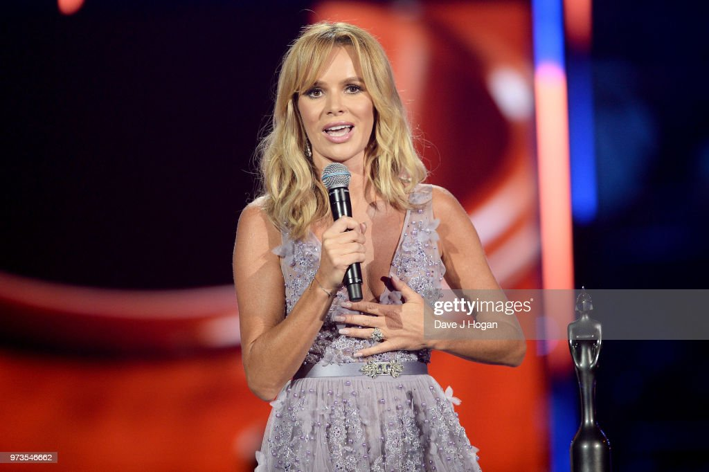 Amanda Holden presents the PPL Classic BRITs Breakthrough Artist of the Year award during the 2018 Classic BRIT Awards held at Royal Albert Hall on June 13, 2018 in London, England.