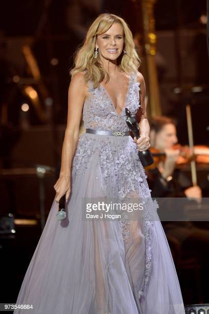 Amanda Holden presents the PPL Classic BRITs Breakthrough Artist of the Year award during the 2018 Classic BRIT Awards held at Royal Albert Hall on...